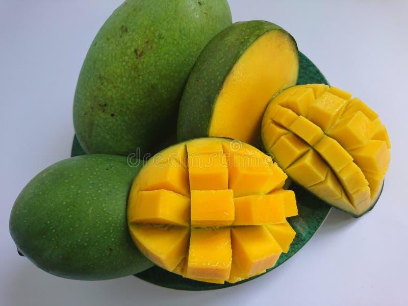 Delicious fresh yellow mango, tropical fresh fruit stock images