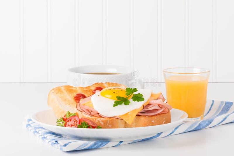 Delicious Fried Egg Sandwich stock photos