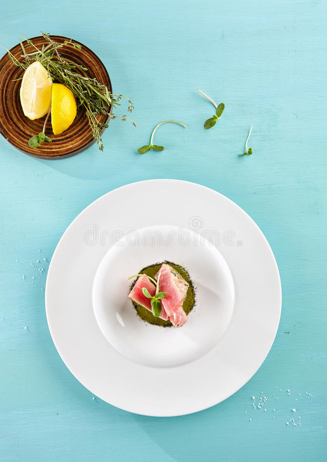 Delicious Fried Tuna Fillet royalty free stock images