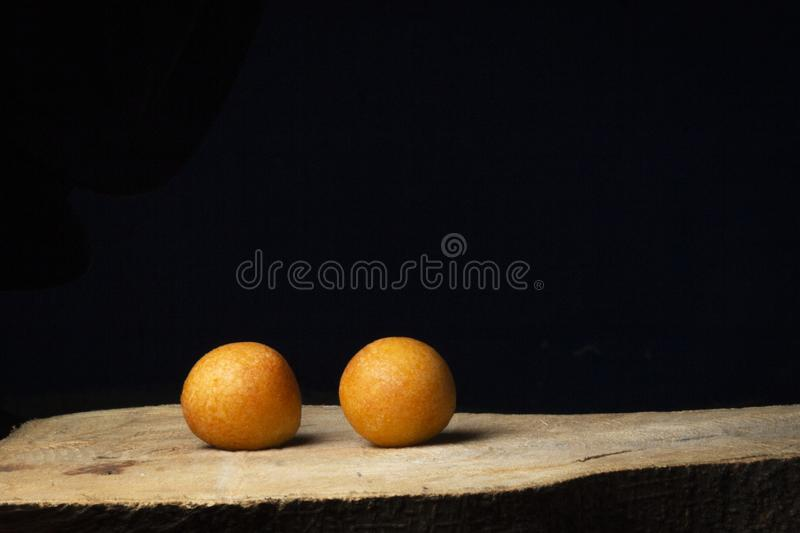 Delicious fritters of traditional food stock photo
