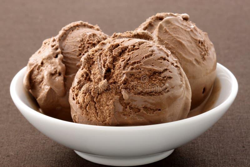 Delicious gourmet chocolate ice cream, stock photo