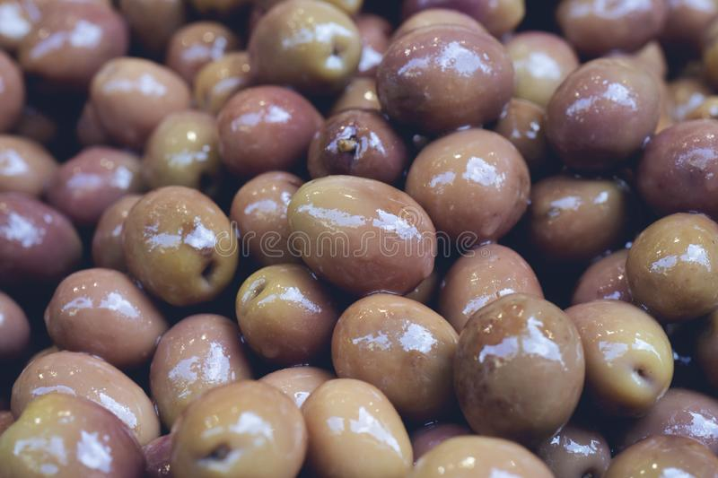 Delicious Green Olives. royalty free stock image