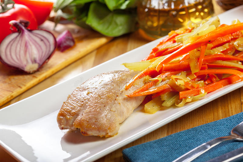 Delicious Grilled Chicken breast fillet royalty free stock images