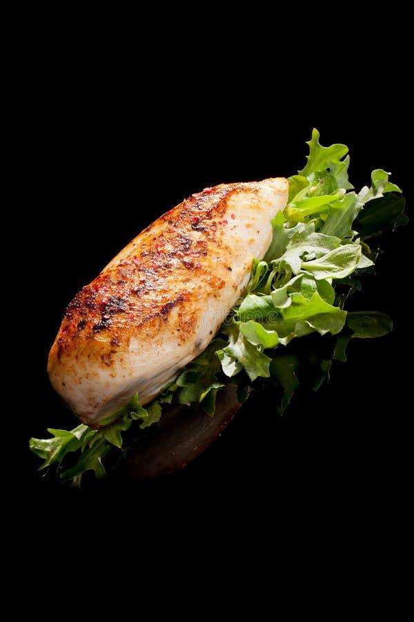 Delicious grillen chicken breast. stock photo
