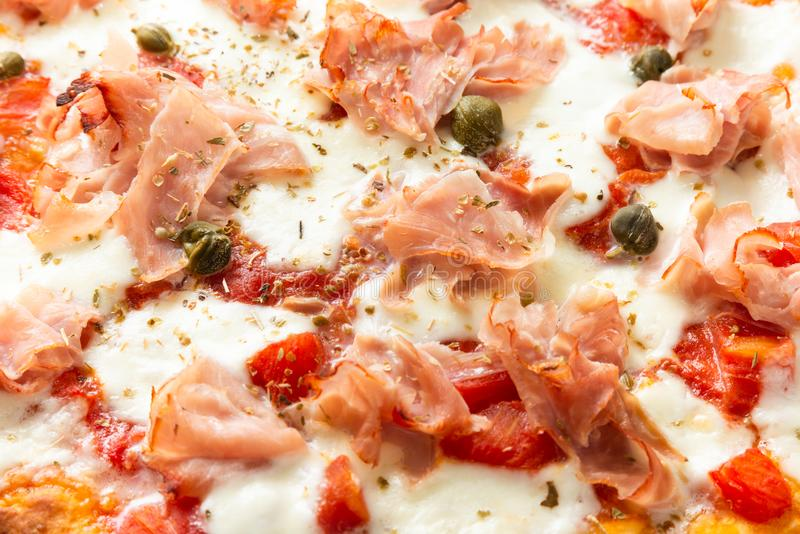 Delicious Ham Pizza royalty free stock image