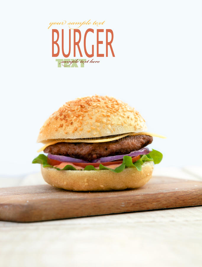 Delicious hamburger royalty free stock images