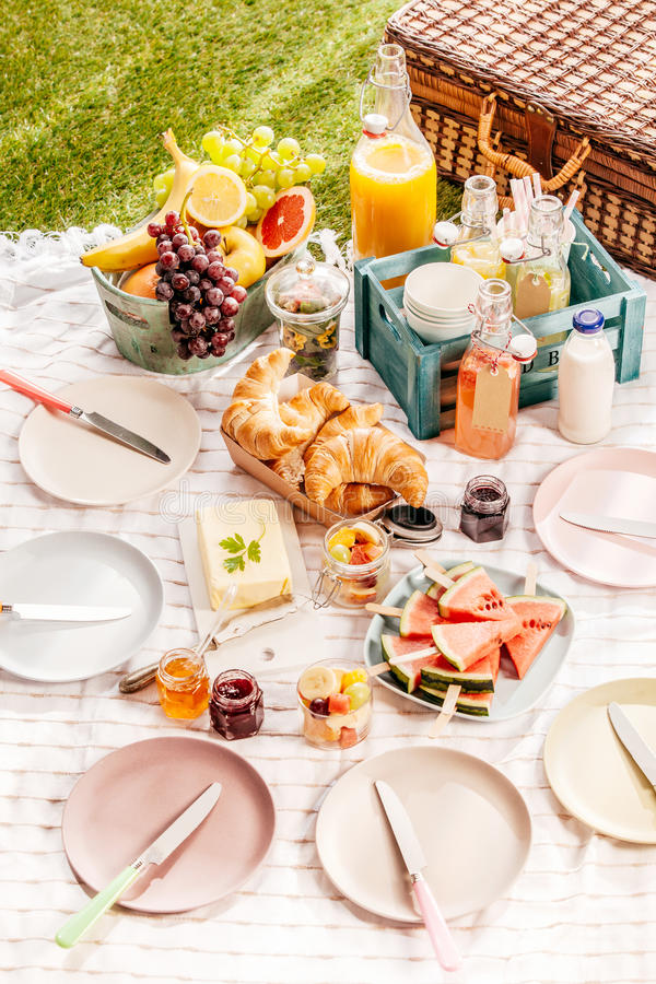 Free Delicious Healthy Summer Picnic Royalty Free Stock Photo - 56006685
