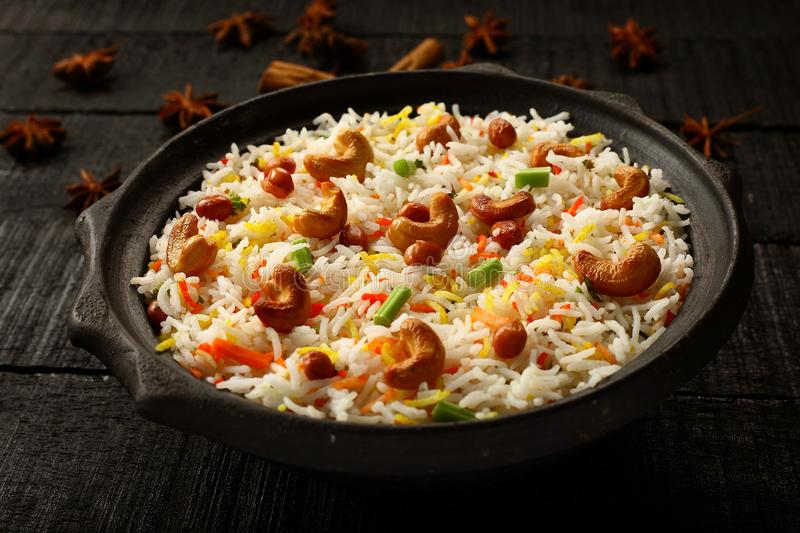 Delicious Homemade Indian vegetable pilaf,biryani stock photography
