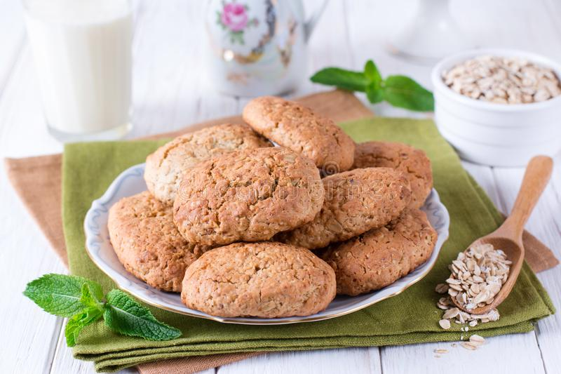 Delicious homemade Oatmeal cookies stock image