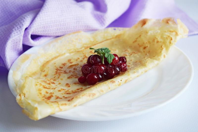 Delicious homemade pancakes. royalty free stock images