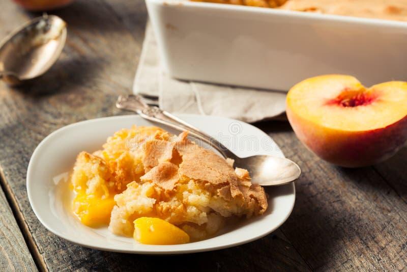 Delicious Homemade Peach Cobbler stock photo