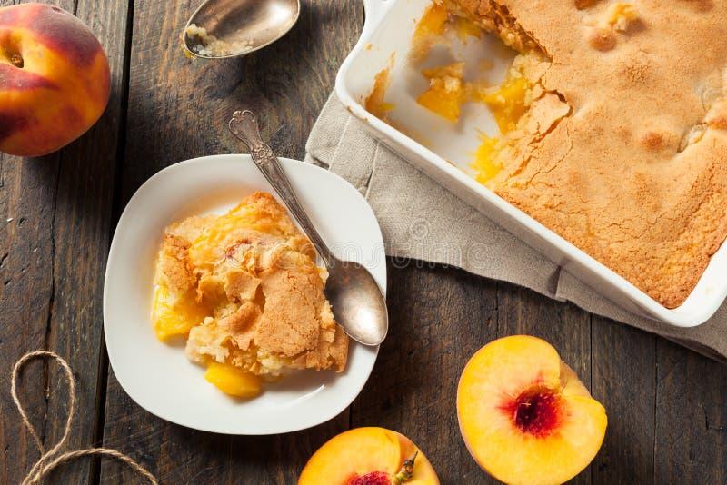 Delicious Homemade Peach Cobbler royalty free stock image