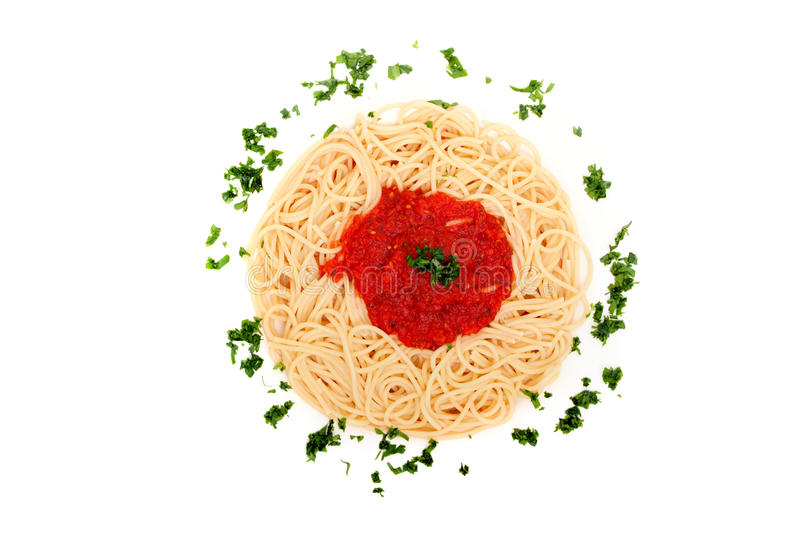 Download Delicious Homemade Spaghetti With Tomatoe Sauce Stock Photo - Image: 16614824