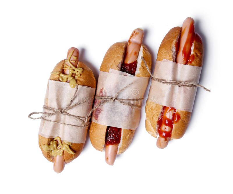 Delicious hot dog stock photo