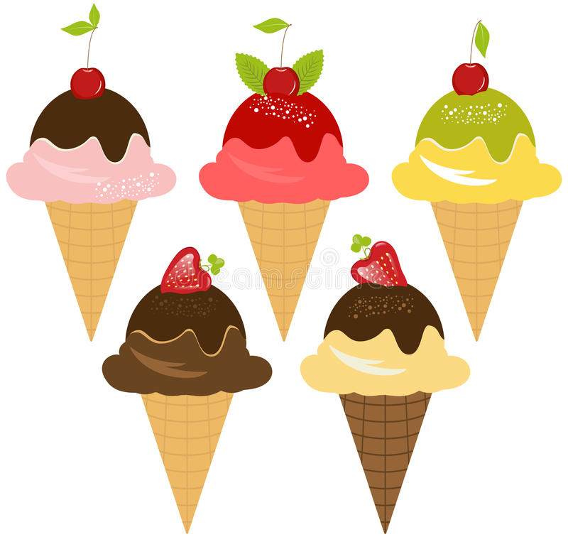 Download Delicious Ice-Cream stock illustration. Image of flavor - 14623874