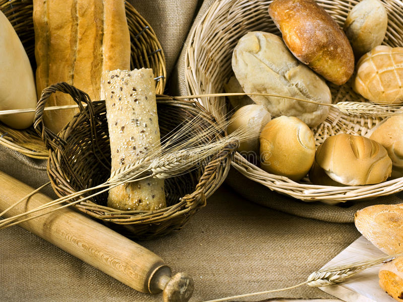 Delicious italian bread. Delicious variety of Italian bread stock photo