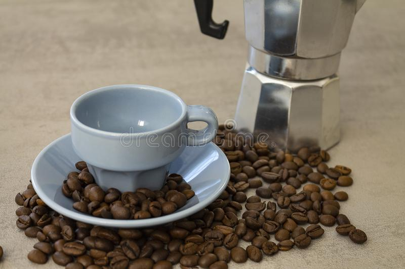 A delicious italian coffee stock images