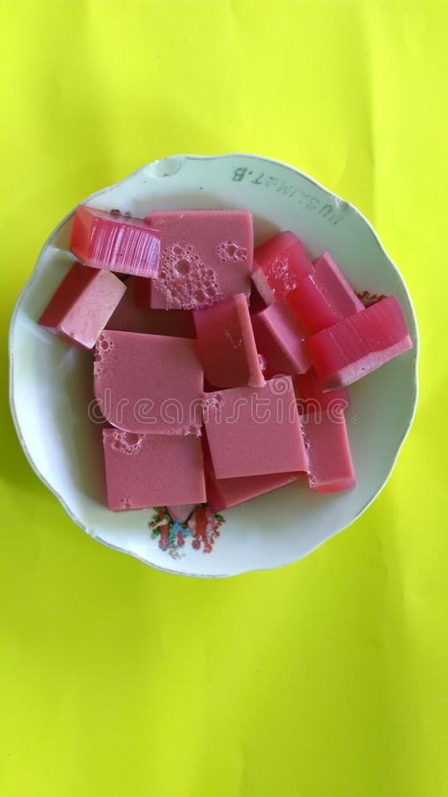 Delicious jelly food stock photos