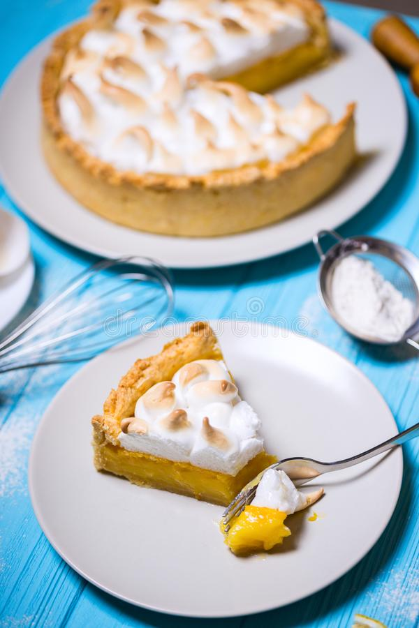 Delicious lemon tarts royalty free stock image
