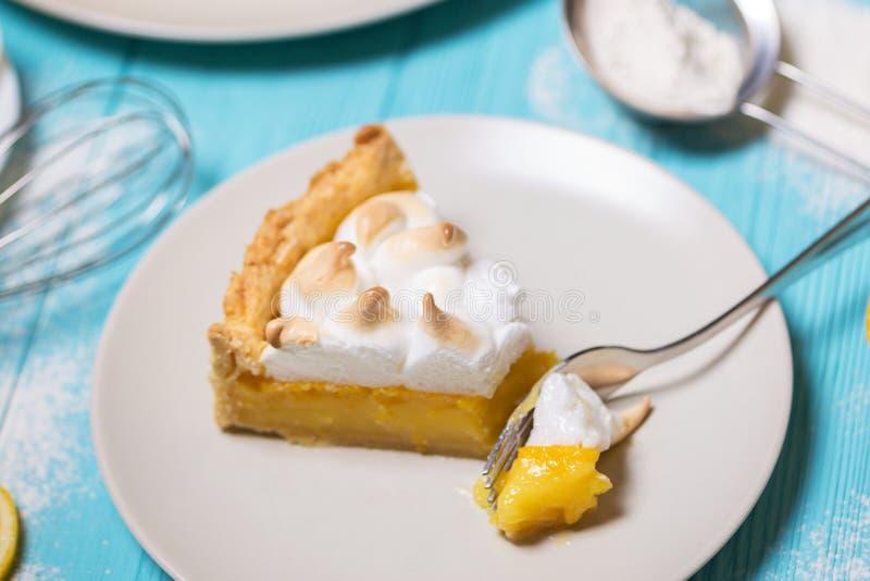 Delicious lemon tarts royalty free stock photos