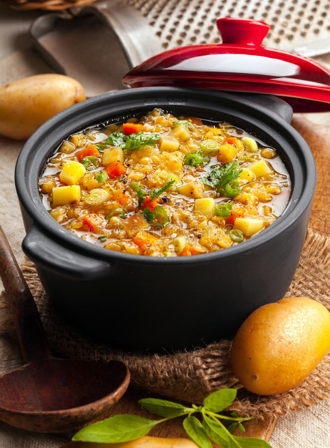 Download Delicious Lentil And Vegetable Stew Stock Photo - Image: 33385400