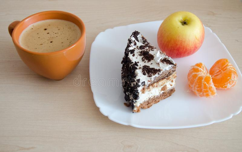 Delicious light breakfast royalty free stock photography