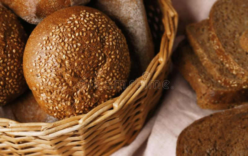 Delicious loaves of rye bread stock photography