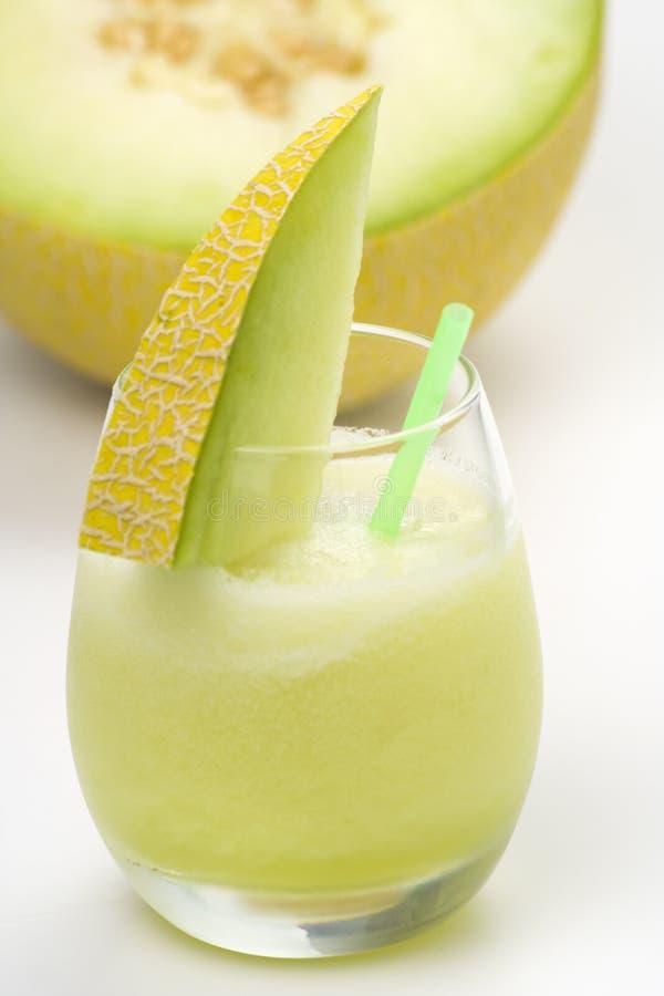 A delicious melon milkshake royalty free stock image