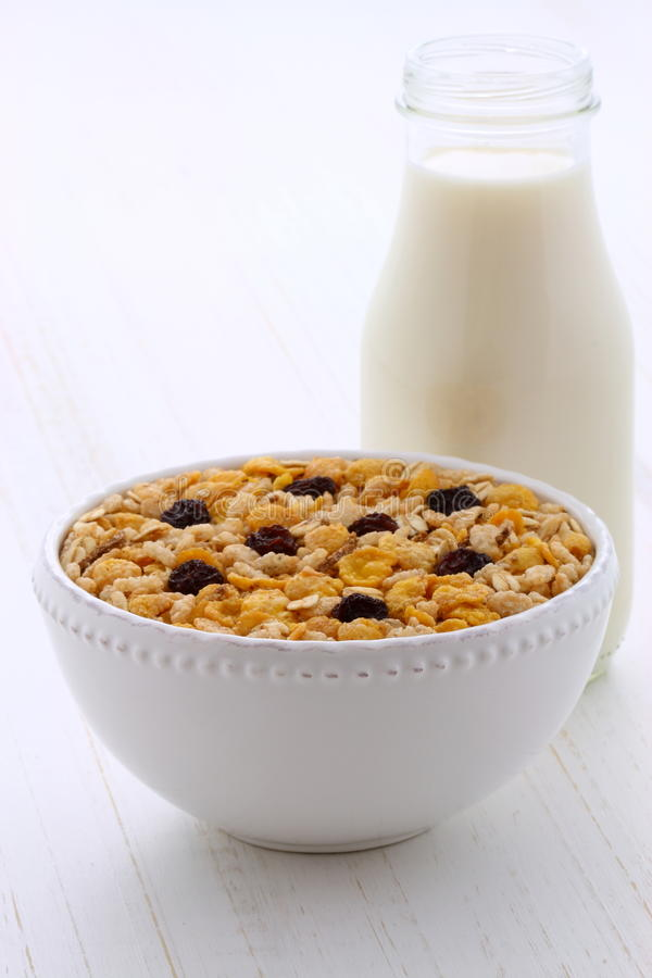 Delicious muesli breakfast stock image