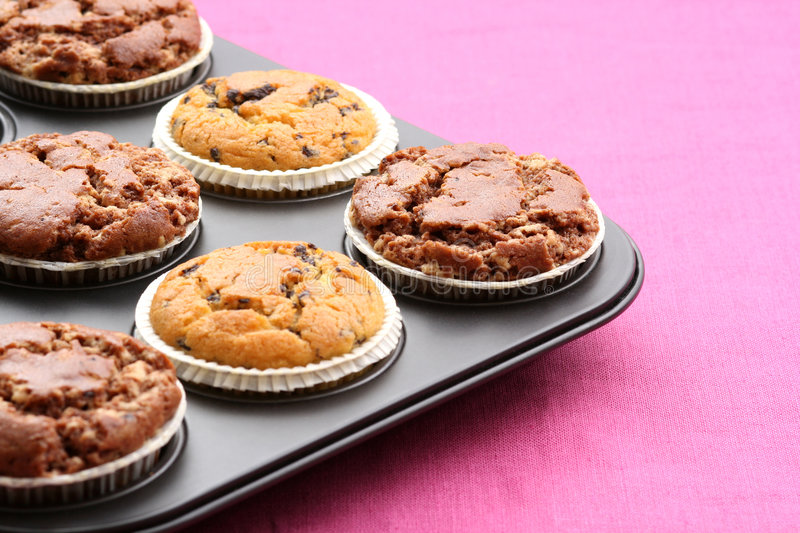 Delicious muffins stock images