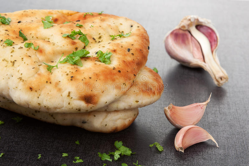 Delicious naan flatbread background. royalty free stock images