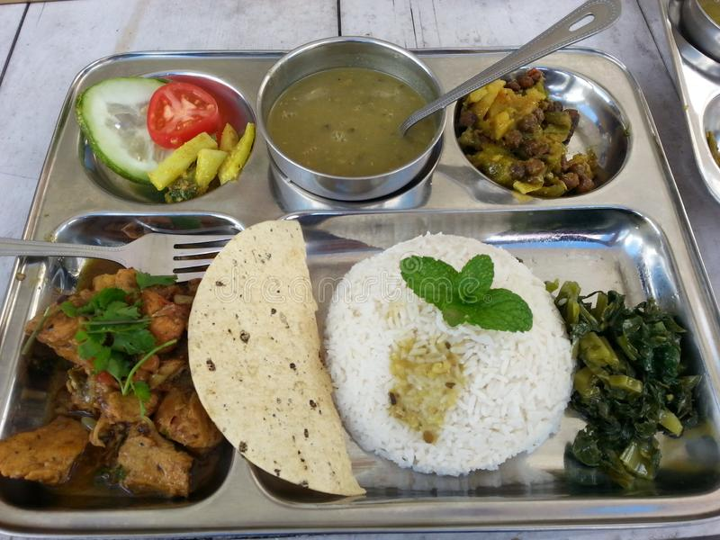 Delicious Nepalese cuisine royalty free stock photography
