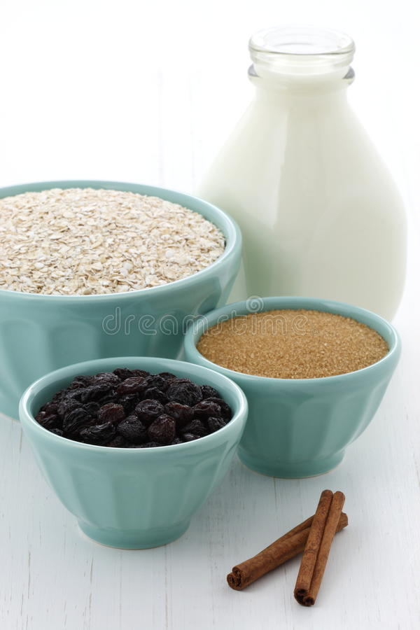 Download Healthy And Delicious Oatmeal Ingredients Stock Photo - Image: 30147942