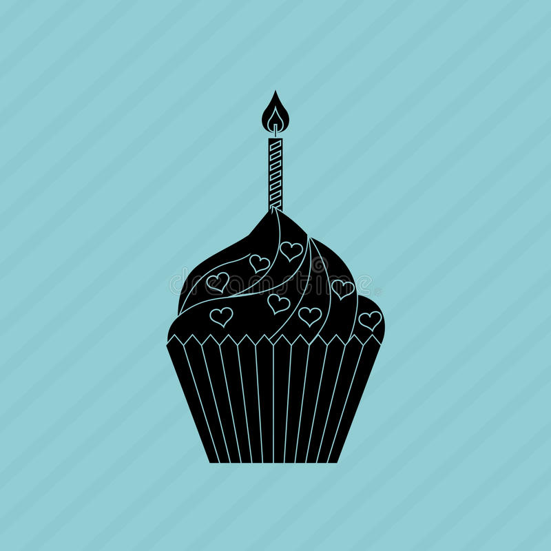 delicious pastry shop design royalty free illustration