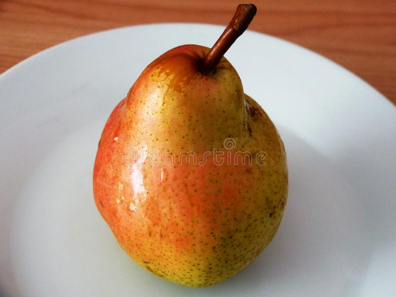 A delicious pear royalty free stock photography