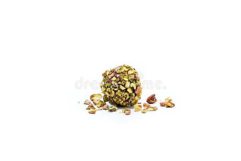 Delicious pistachio ball dessert royalty free stock photography