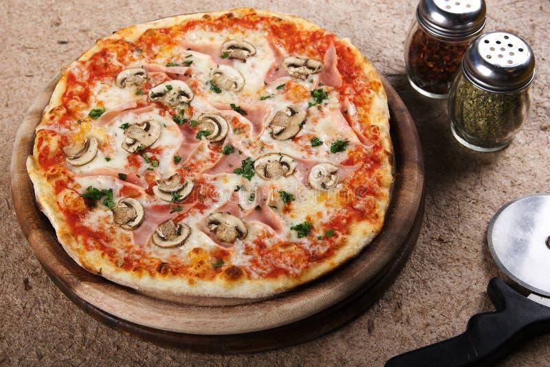Delicious pizza stock image