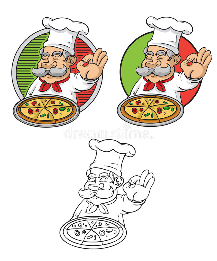 Download Delicious Pizza stock illustration. Illustration of food - 27412850