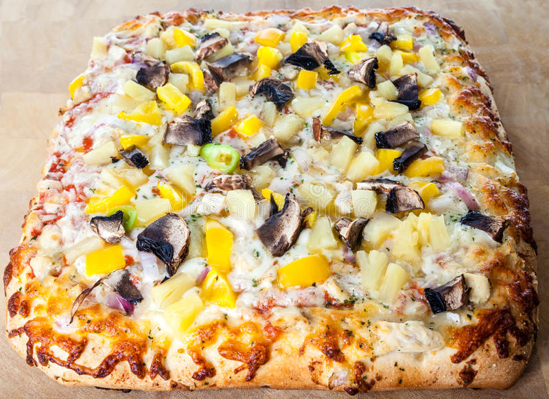 Delicious Pizza With Assorted Toppings royalty free stock image