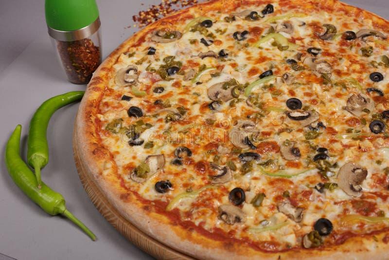 Delicious pizza Mexicana. royalty free stock photo