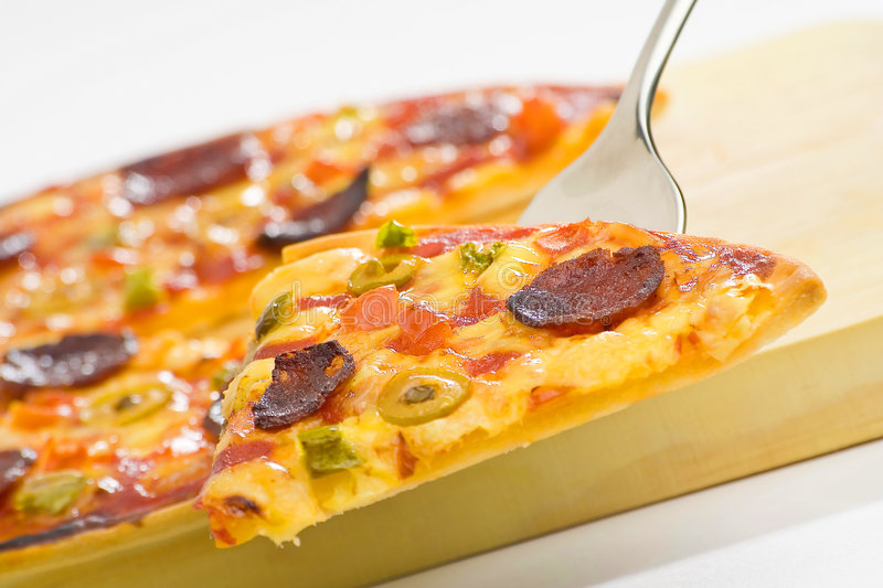 Delicious Pizza With Natural Ingredients Royalty Free Stock Photography