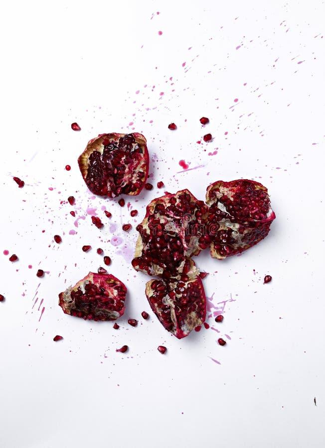 Delicious pomegranate stock image