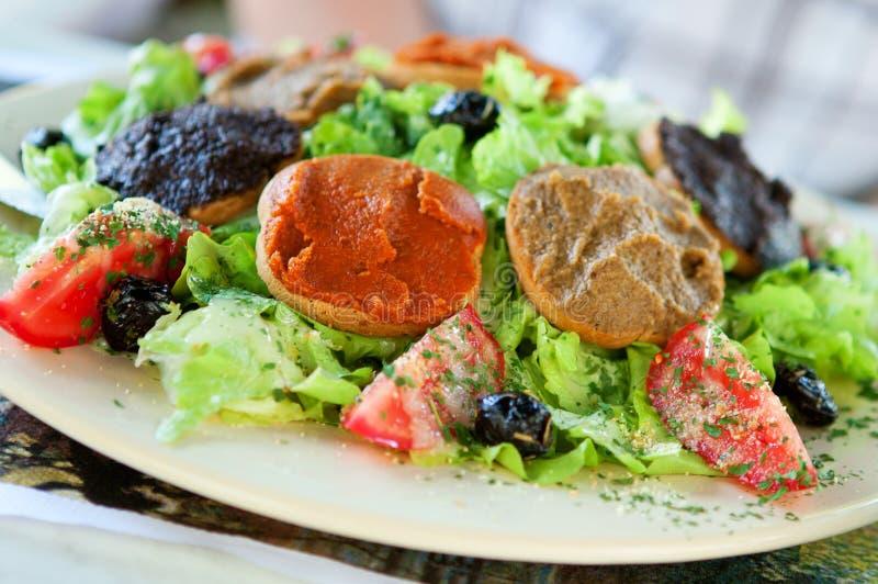 Delicious Provencal salad stock image