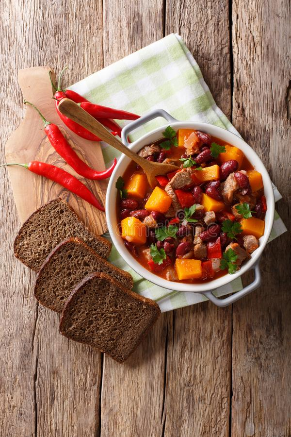 Free Delicious Pumpkin Stewed With Meat And Vegetables Close-up In A Stock Photos - 101167993