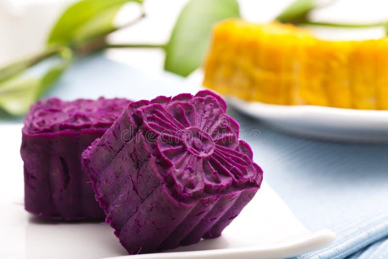 Delicious Purple Potato Cakes Stock Photography