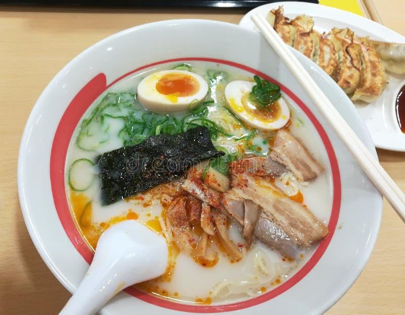 Delicious Ramen & Gyoza royalty free stock images