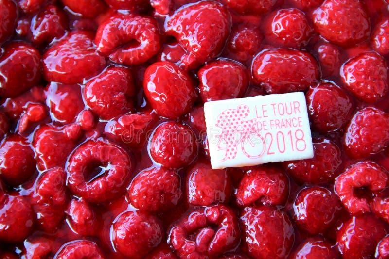 Tour de France raspberry cake royalty free stock photos