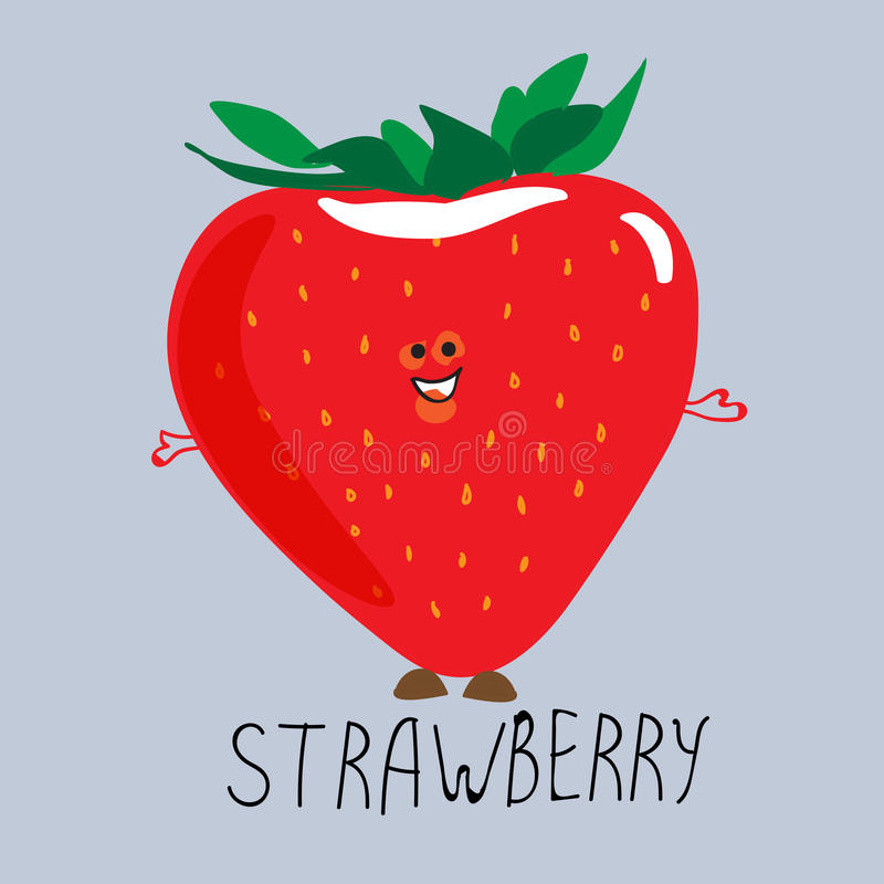 Delicious ripe strawberries. Draw more royalty free illustration