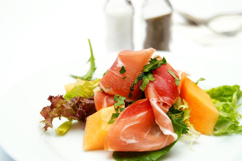 Delicious Salads as Appetizer royalty free stock image