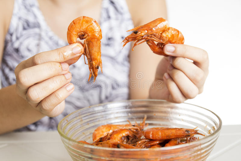 Delicious Shrimp stock photo